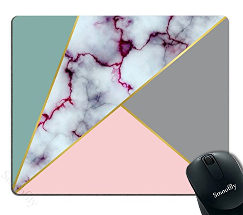 Smooffly Gaming Mouse Pad Custom,Purple Marble texture design Customized Rectangle Non-Slip Rubber Mousepad Gaming Mouse Pad