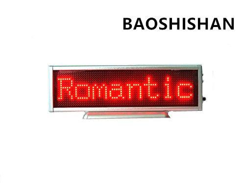 Rojo LED Pantalla desplazable de visualizacion Pantalla de mensaje Mini tablero de escritorio movil publicidad / programable / compatible con cualquier idioma 220V 16x64