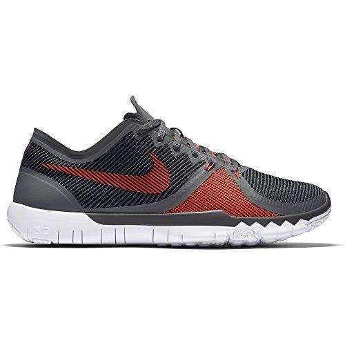 Nike Mannen Gratis Trainer 3.0 V4 Donkergrijs / Helder Crimson-zwart-wit 749361-060_8