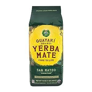 Guayaki Sustainable Rainforest Tea, Og, San Mateo Bld, Loos, 16-Ounce