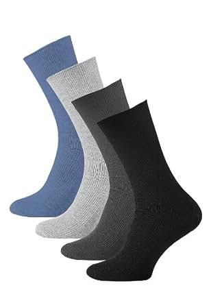 pack de 8 Calcetines lisos sin goma o elástico algodón para hombre, Calcetines diabéticos. 39/42