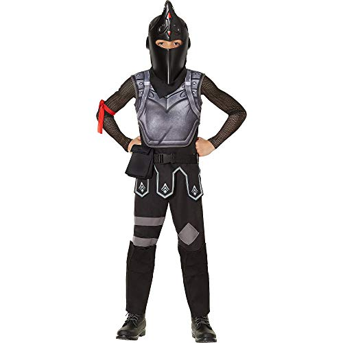 InSpirit Designs Fortnite Black Knight Costume for Children, Size Medium, Includes a Jumpsuit, Helmet, Shield, and More