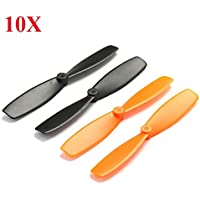 New 10X 55mm Blade Propeller Prop for QX90 QX95 QX80 QX100 7mm 8.5x20mm Coreless Motor DIY Micro Quadcopter By KTOY