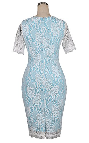 U8Vision - Vestido - Noche - para mujer azul claro