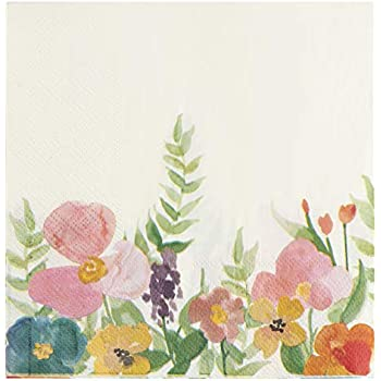 Watercolor Floral Lunch Napkins Spring Flowers Floral Party Decorations