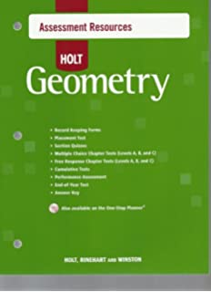 Printables Holt Geometry Worksheets amazon com holt geometry homework and practice workbook assessment resources with answer key 2007
