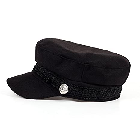 Xuzirui Octagonal Cap Wool Button Adjustable Baseball Caps Sun Visor Hat Gorras Casquette Touca Black Casual For Women Men (Black) at Amazon Mens Clothing ...