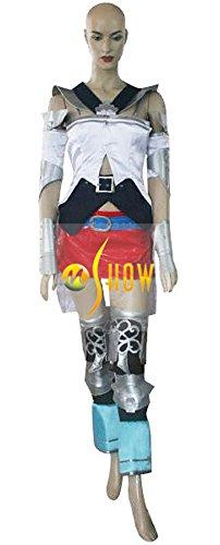 Mtxc Women's Final Fantasy XII Cosplay Costume Ashe Full Set Size XX-large White