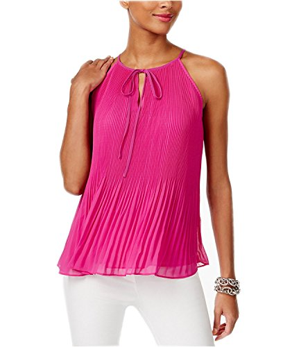 INC International Concepts Women's Pleated Halter Top (XXL, Magenta - Magenta International