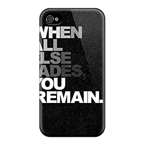 Iphone 4/4s RShoees8151FHBnm When All Fades Tpu Silicone Gel Case Cover. Fits Iphone 4/4s