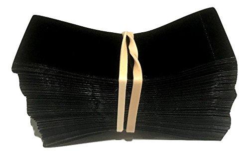 66 x 25 mm BLACK Perforated Shrink Band for Growler Bottles, Pharmaceutical Bottles, Gallon Jugs, Honey Bottles, and More. Fits 1 1/4 to 1 1/2 Diameter - Pack of 250