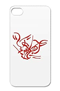 Wild Cat Red TPU Scratch-resistant Animals Nature Cats Lion Abstract Cover Case For Iphone 4s