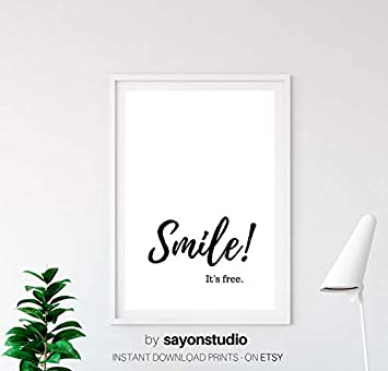 picture regarding Printable Poster called : Rainbow Retail store Smile Typography Printable
