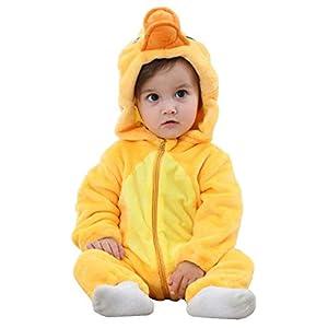 Unisex Bambino Inverno Pagliaccetto Coniglio Tigre Cucire Animale Stile Flanella Cosplay Halloween Costume Attrezzatura 9