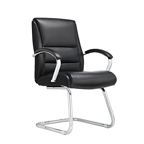 Realspace Morgan Guest Chair, Black/Silver Item # 979064