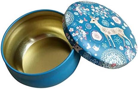 キャンドル缶 メタル缶 エルクガーデン形 ラウンド DIYアロマセラピーキャンドル作成用 ギフト用