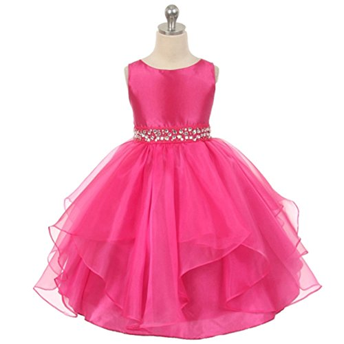 Flower Girl Dresses Birthday Wedding Formal Prom Pageant Party Hot Pink Size 6