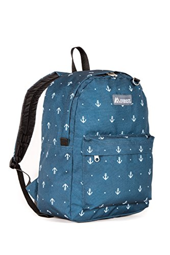 Everest Classic Pattern Backpack, Anchor, One Size (Anchor Patterns)
