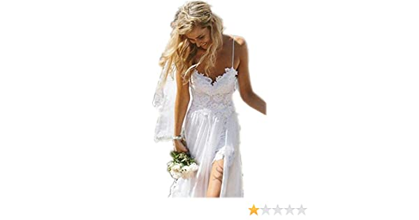 Amazon.com: Miranda Hot Sleeveless Short Lace Evening Party Prom Beach Wedding Dress (12, Ivory): Clothing