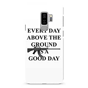 Loud Universe Gun Style Tony Montana Samsung S9 Plus Case Scarface Good daySamsung S9 Plus Cover with 3d Wrap around Edges