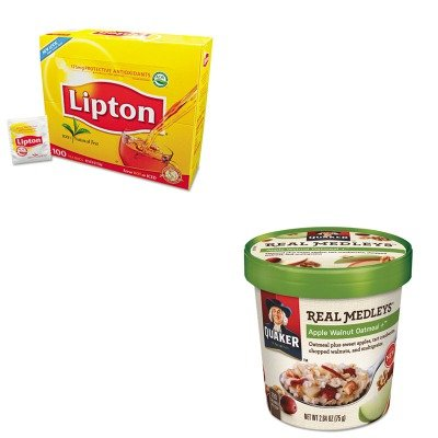 KITLIP291QKR15504 - Value Kit - Quaker Oats Company Real Medleys Oatmeal (QKR15504) and Lipton Tea Bags (LIP291) by Quaker