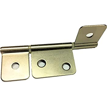 "Rectangle Folding Closet Cabinet Door Hinge Hardware 1.5/"" 20 Pcs CP"