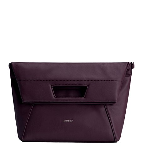 Matt & Nat Ayva Fold Over Tote, 100% Vegan, Grape Purple