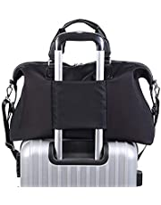 Women Ladies Travel Bag Oversized Carry on Weekend Overnight Luggage Bags (Black)