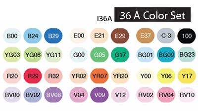 Copic Ciao Marker Set 36A Color