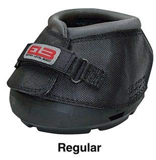 Cavallo Horse & Rider DELBR-5 ELB Regular Sole Hoof Boot, Size 5, Black