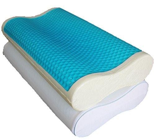 Abripedic Dual Contour Gel Memory Foam Pillow