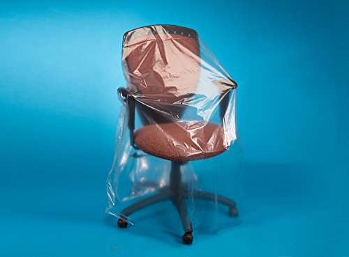 Elkay Plastics J024 1 mil Low Density Furniture Cover, 24'' Chair, 28'' x 17'' x 58'', Clear (Roll of 275) by Elkay Plastics