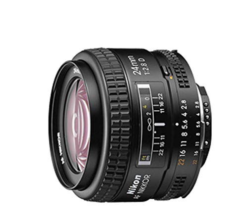 Nikon AF FX NIKKOR 24mm f/2.8D Fixed Zoom Lens with Auto Focus for Nikon DSLR Cameras – White Box (New)