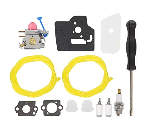 - MOTOKU Carburetor Air Filter Tool Fuel Line Filter Carb Tune-up Kit for Husqvarna Trimmer Weed Eater Wacker Edger 28cc 124L 125L 125LDX 128C 128L 128LD 128R 128RJ Poulan Replaces Zama C1Q-W40A W38