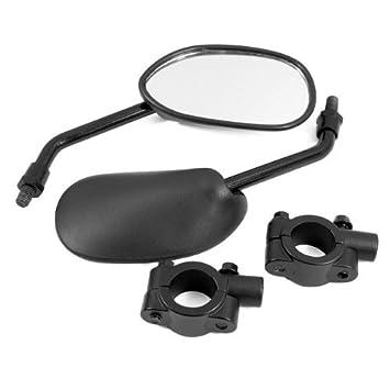 DLLL negro Retro Style Side Espejo Retrovisor w/7/8