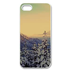 Snowy Trees Watercolor style Cover iPhone 5 and 5S Case (Winter Watercolor style Cover iPhone 5 and 5S Case)