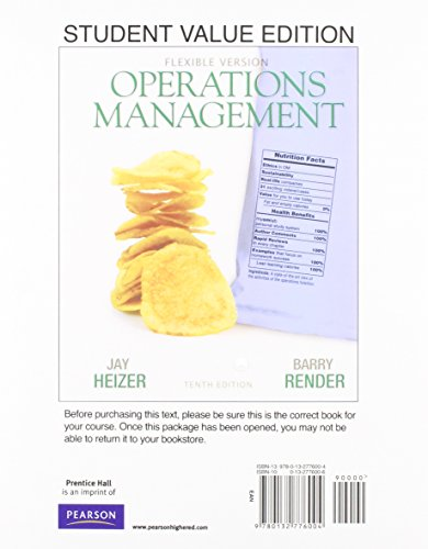 Operations Management, Flexible Version, Student Value Edition Plus NEW MyLab Operations Management with Pearson eText -