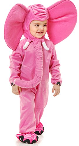 Charades Little Elephant Baby/Toddler Costume, Pink, Infant