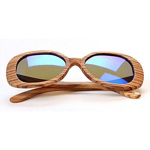 soleil Polarized conduite cadre de de UV soleil impression les de soleil pour plage de lunettes s Bamboo lunettes léopard protection Unisexe femmes lunettes de Handmade lunettes hommes lunettes soleil A7RxEq