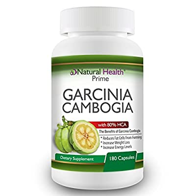 Garcinia Cambogia Pure Extract Supplement, 80% HCA, Best Weight Loss Pill for Women & Men, TV Dr Recommended, Natural Appetite Suppressant, Fat Blocker,180 Capsules