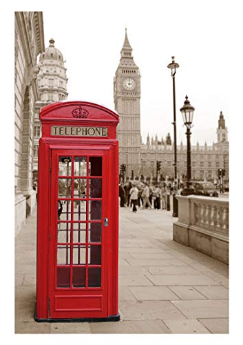 Britain London Red Telephone Booth Photo Background 5X7ft England Big Ben Towel And Street Photography Backdrop Party Home Backdrops BT005