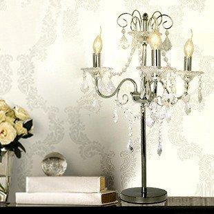 European Modern Minimalist Creative Table Lamp Crystal Lamp Bedroom Bedside  Lamp