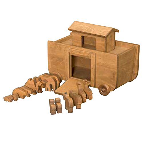 Amish Buggy Toys Small Wooden Noah's Ark Toy, Animals (Wooden Buggy)