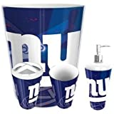 The Northwest Company New York Giants NFL 4 Piece Bathroom Decorative Set Scatter Series