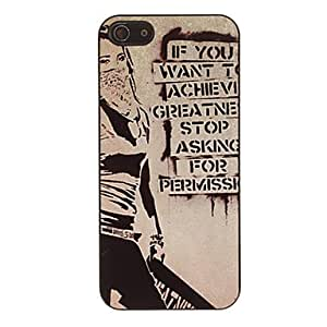Mysterious Girl Pattern Smooth Hard Case for iPhone 5/5S