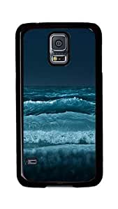 Samsung Galaxy S5 Case, S5 Cases - Waves Crashing Ultimate Protection Scratch Proof Soft TPU Rubber Bumper Case for Samsung Galaxy S5 I9600 Black