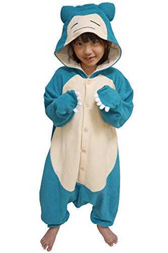Pokemon Costume For Kids (SAZAC Kigurumi - Pokemon - Snorlax - Onesie Jumpsuit Halloween Costume - Kids Size (5-9 Year Old))