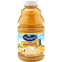 Ocean Spray 100% Pineapple Juice, 32 Ounce Bottle (Pack of 12)