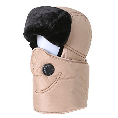 De Ruso De Sombrero Piloto Sombrero De Aleta Khaki Caza De Para Hombre Oreja Estilo Invierno Caliente Bombardero Sombrero Unisex De De De WCP8wHqqT