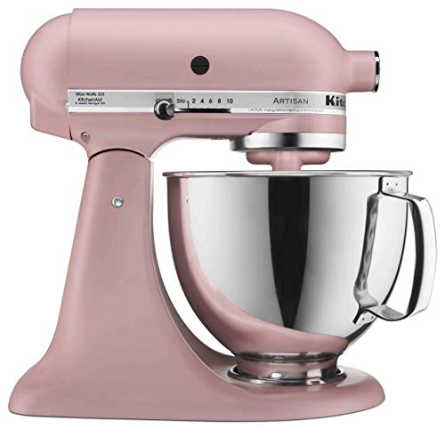 (KitchenAid KSM150PSDR Artisan Stand Mixers, 5 quart, Matte Dried Rose)